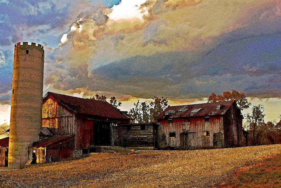 Acrylic Paintings Of Farms