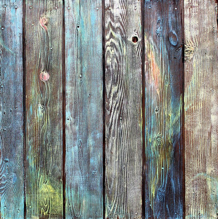 Abstract Painting Painting - Old Barnyard Gate by Asha Carolyn Young