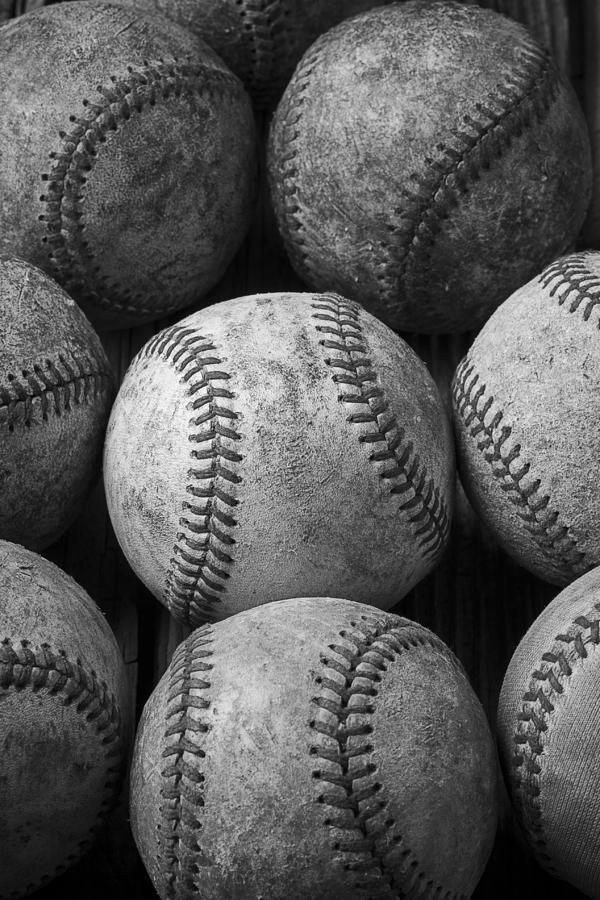Baseball Memories Photograph - Old Baseballs by Garry Gay