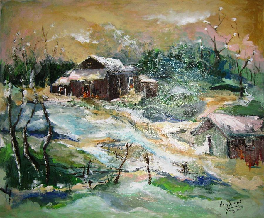 World War Ii Painting - Old Bethpage Village Restoration by Mary Spyridon Thompson