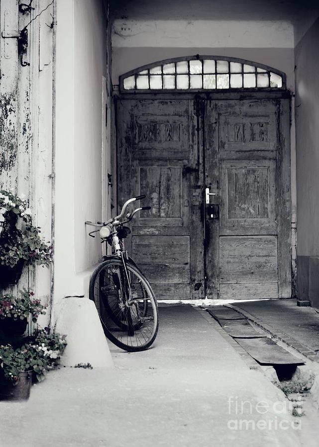 Bicycle Pyrography - Old Bicycle by Jelena Jovanovic