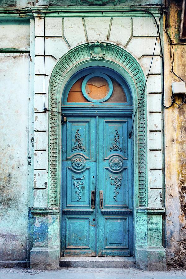 Old Blue Door In Havana, Cuba Photograph by Nikada