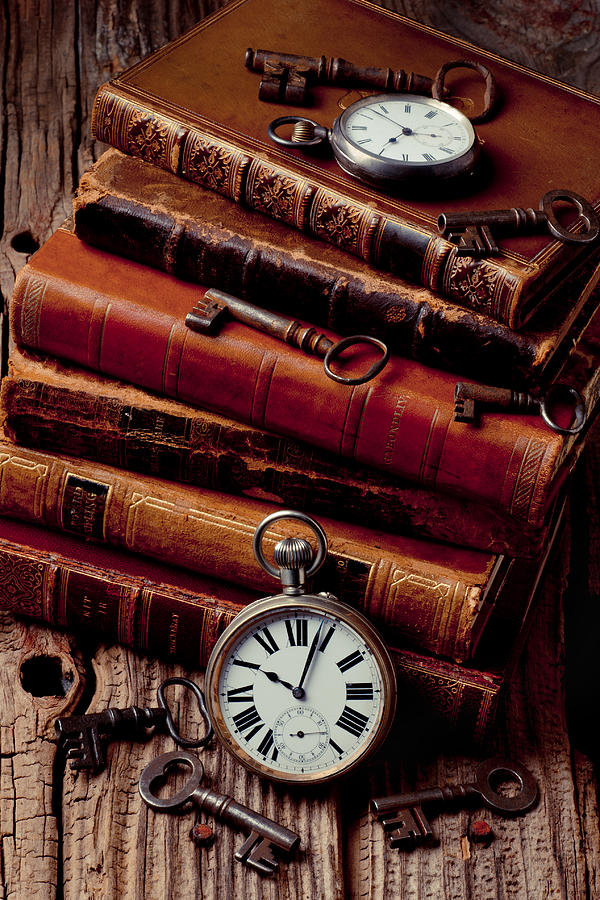 Key Photograph - Old books and watches by Garry Gay
