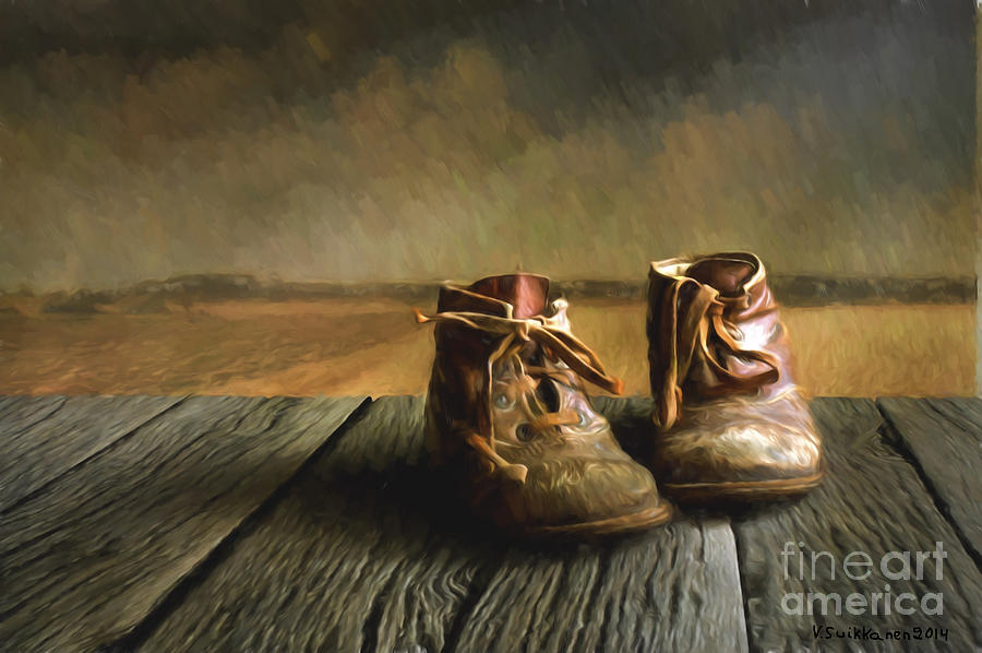 429bc583d1e5 Old Boots Painting by Veikko Suikkanen