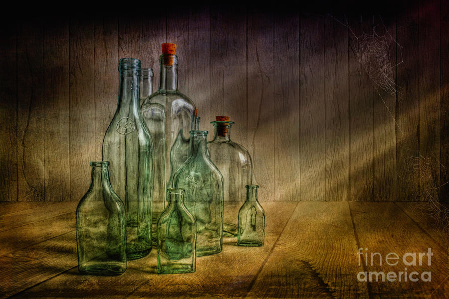 Artist Photograph - Old Bottles by Veikko Suikkanen