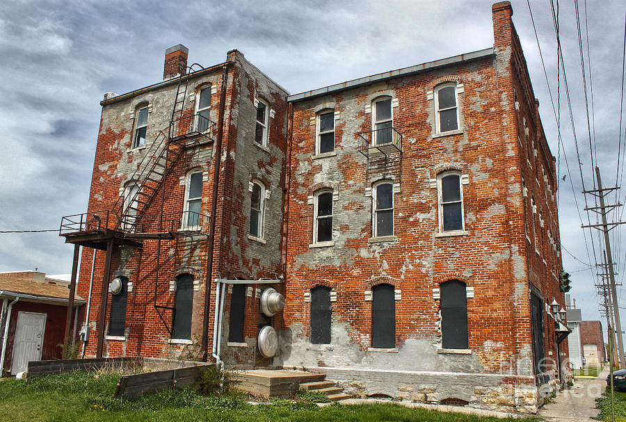 Old Brick Building Photograph - Old Brick Building In Downtown Montezuma Iowa - 02 by Gregory Dyer