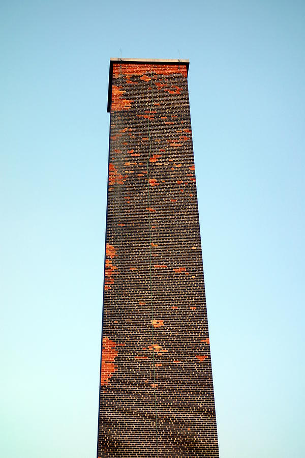 Red Photograph - Old Brick Stack by Valentino Visentini