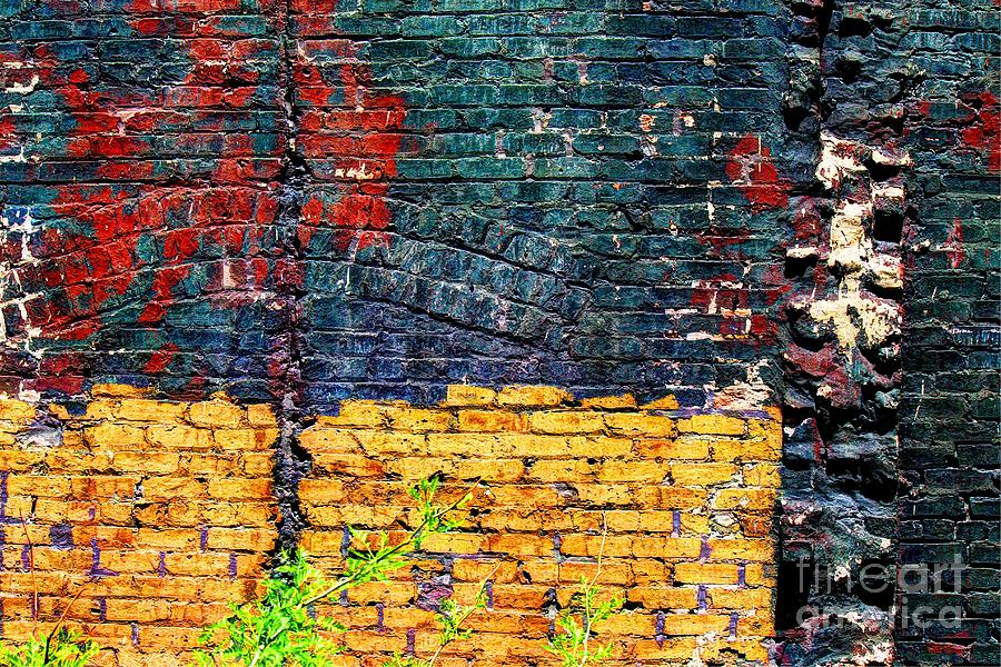 Wall Photograph - Old Brick Wall by Jim Wright