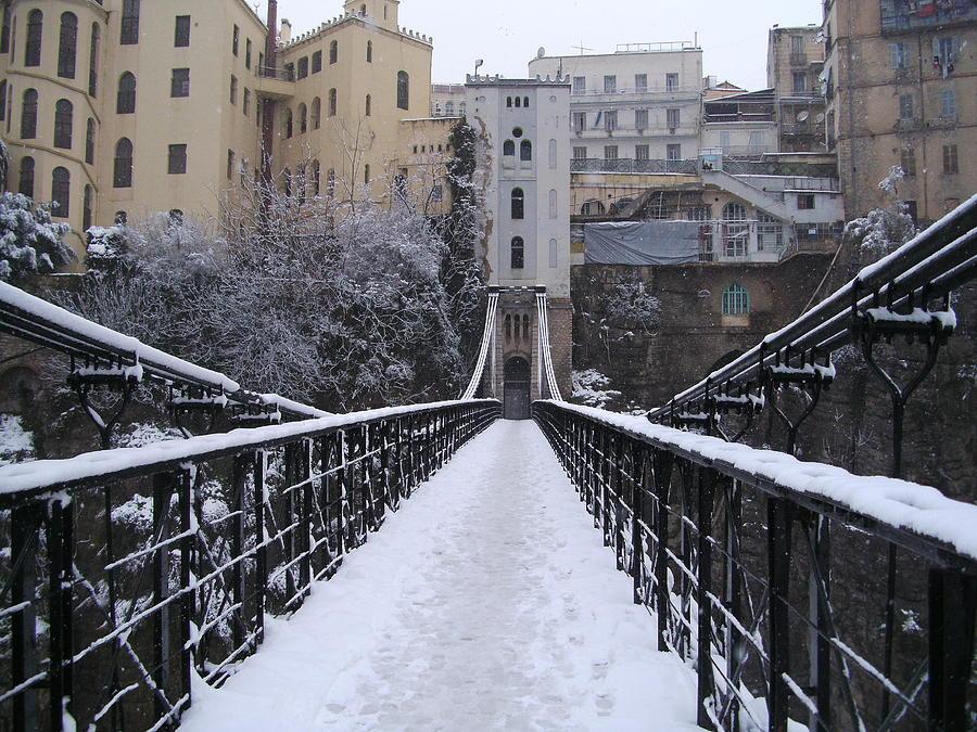 Old Bridge Of Constantine Pyrography by Boultifat Abdelhak badou