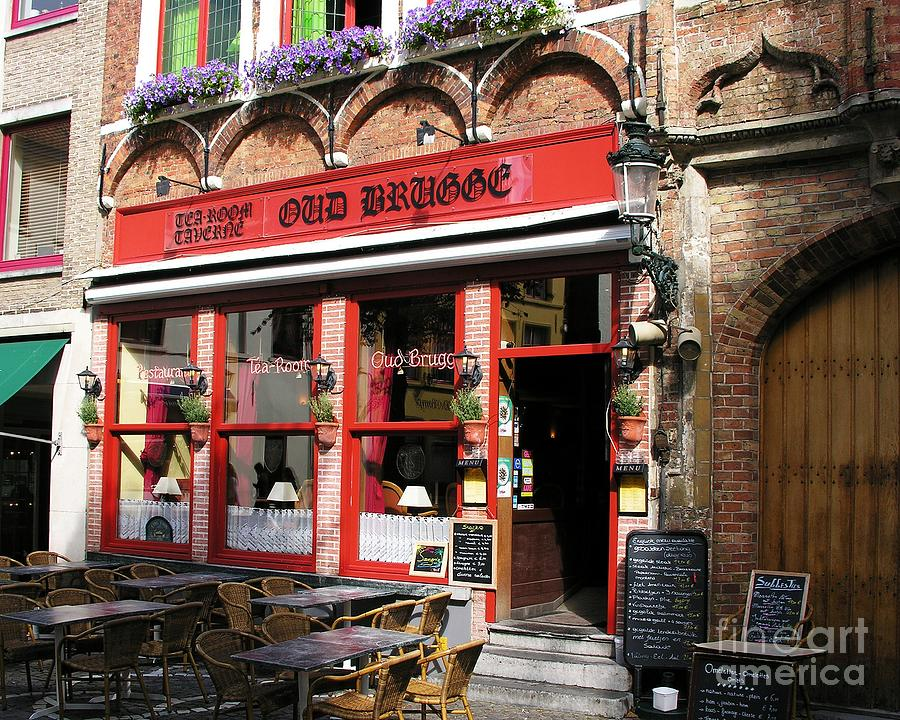 Cityscapes Photograph - Old Brugge Tavern by Mel Steinhauer
