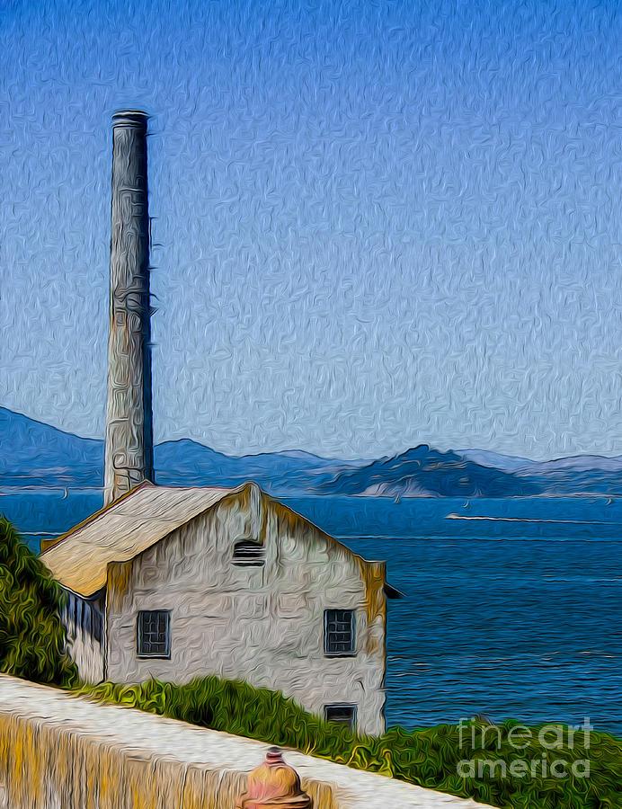 San Francisco Digital Art - Old Building At Alcatraz Island Prison by Kenneth Montgomery