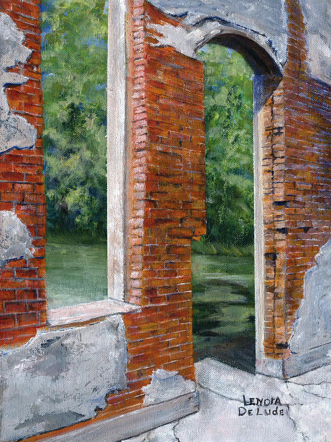 Old Painting - Old Building In Pleasant Hill Louisiana by Lenora  De Lude