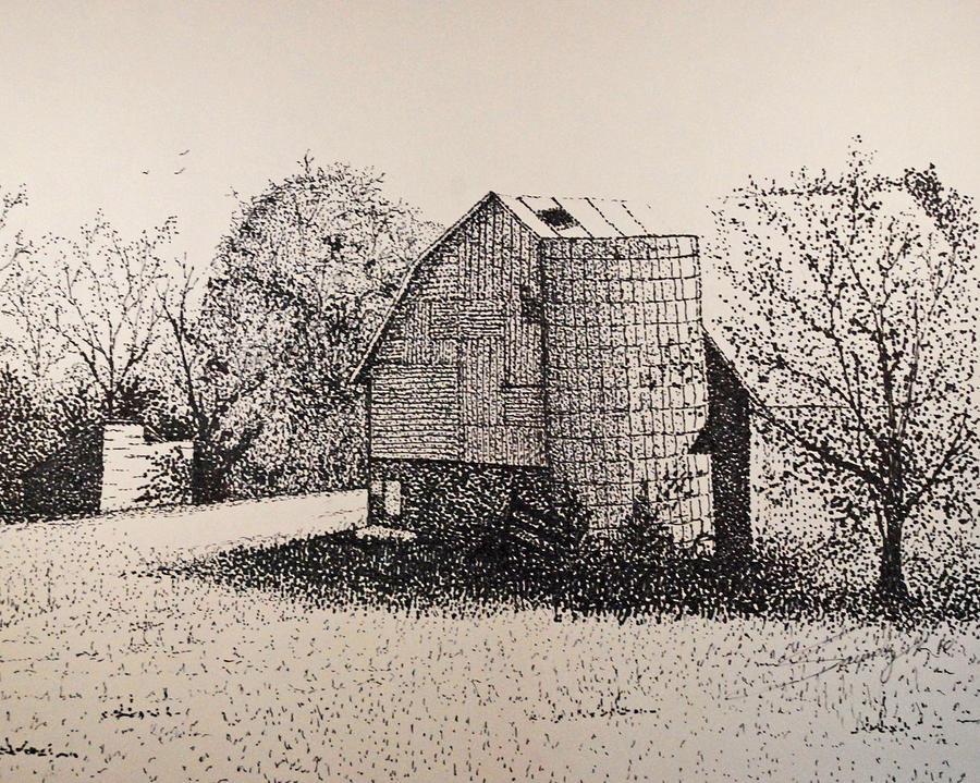 Landscape Drawing - Old But Beautifull by Saundra Smoker