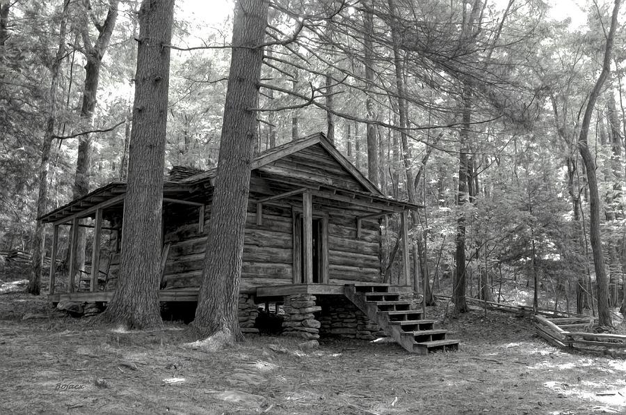Cabin Digital Art - Old Cabin  by Bob Jackson