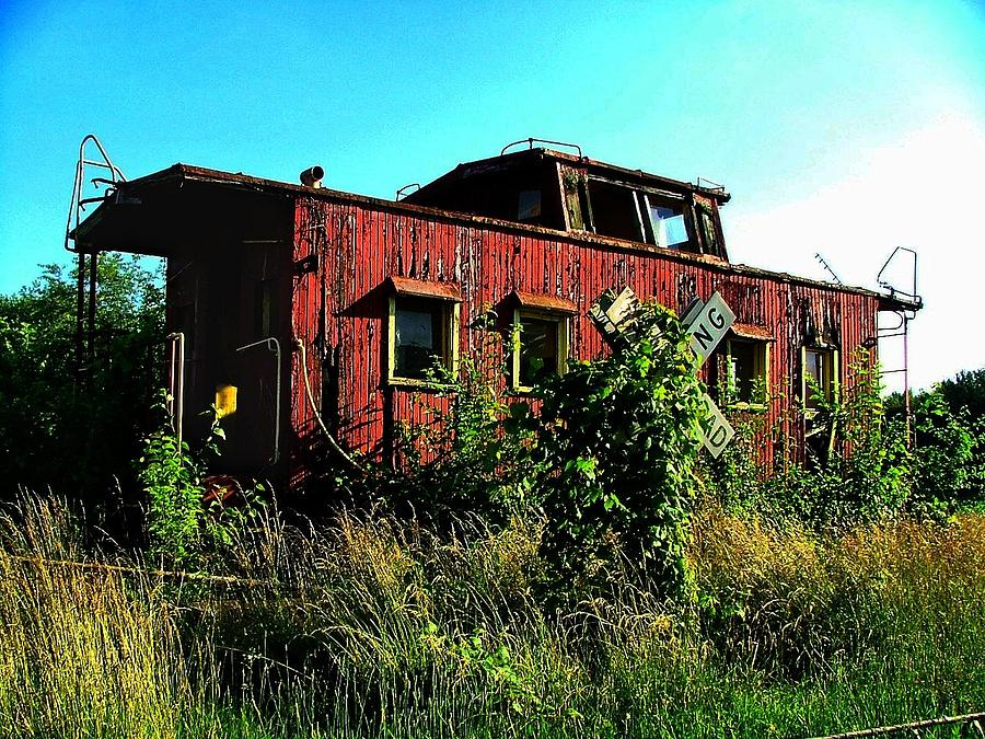 Caboose Photograph - Old Caboose by Julie Dant