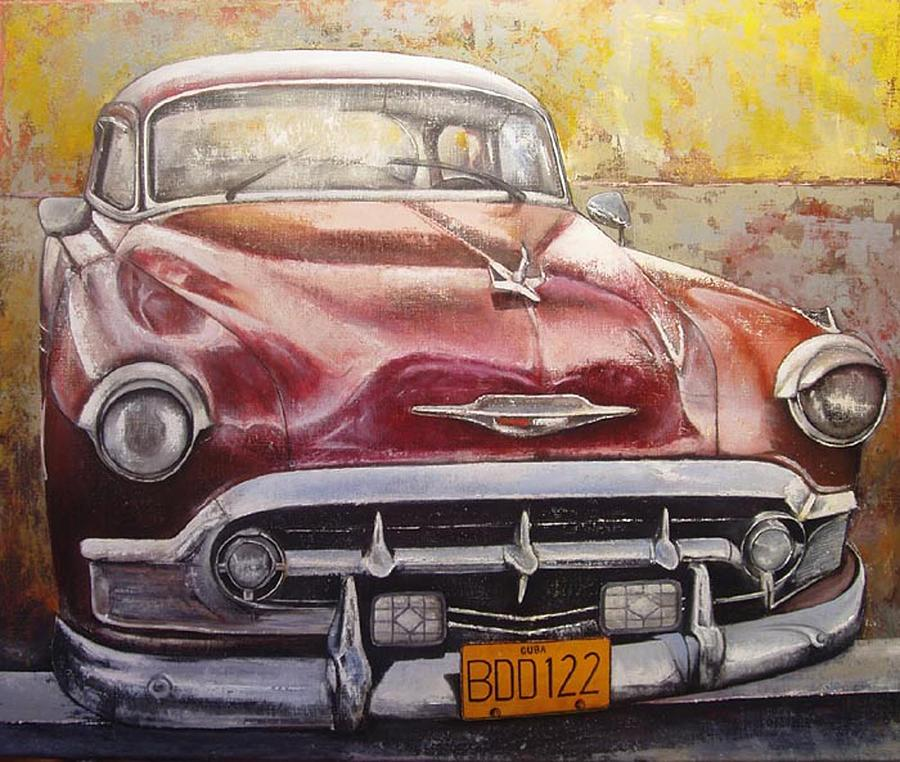 Havana Painting - Old Cadillac by Tomas Castano