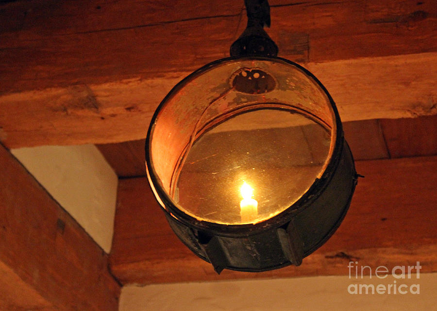 Old Photograph   Old Candle Light Fixture By Karen Adams