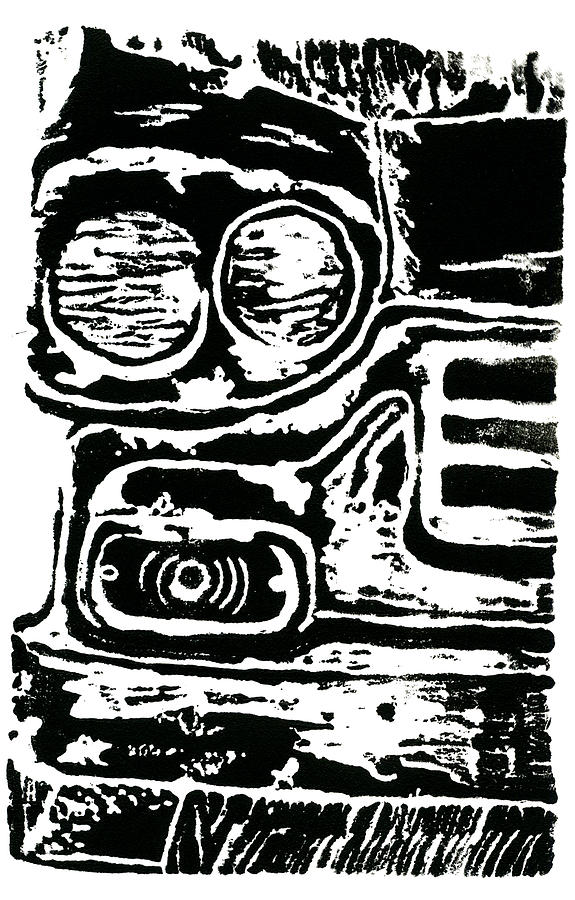 Relief Drawing - Old Car by Jame Hayes