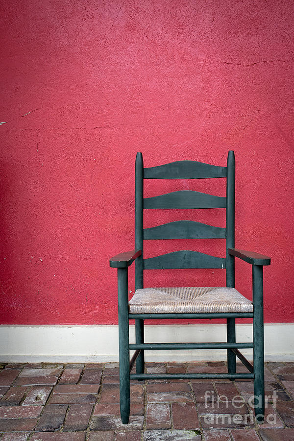 Chair Photograph - Restful Spot Cornish New Hampshire by Edward Fielding
