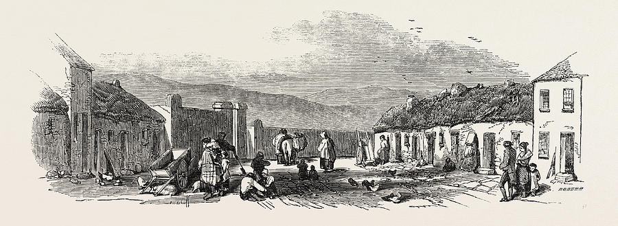 Old Chapel Road, Dungarvan, A Scene Of The Late Food Riots Drawing ...