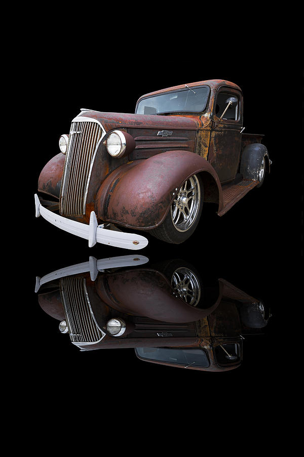 '37 Photograph - Old Chevy by Debra and Dave Vanderlaan