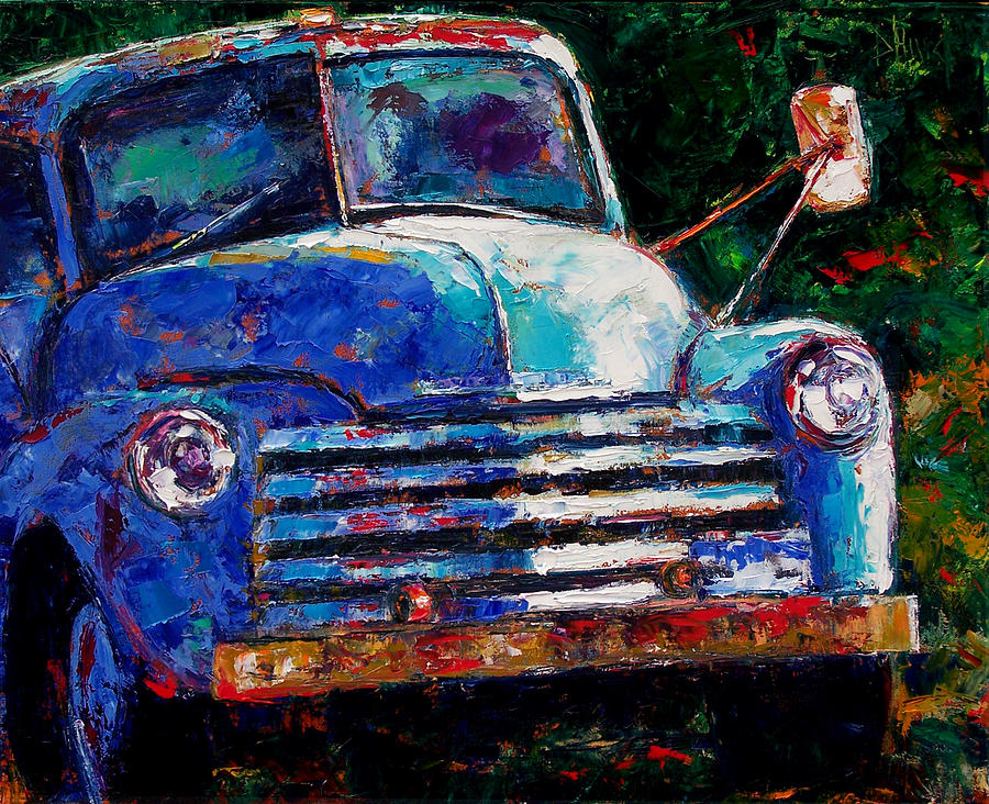 Old Chevy Truck Painting By Debra Hurd