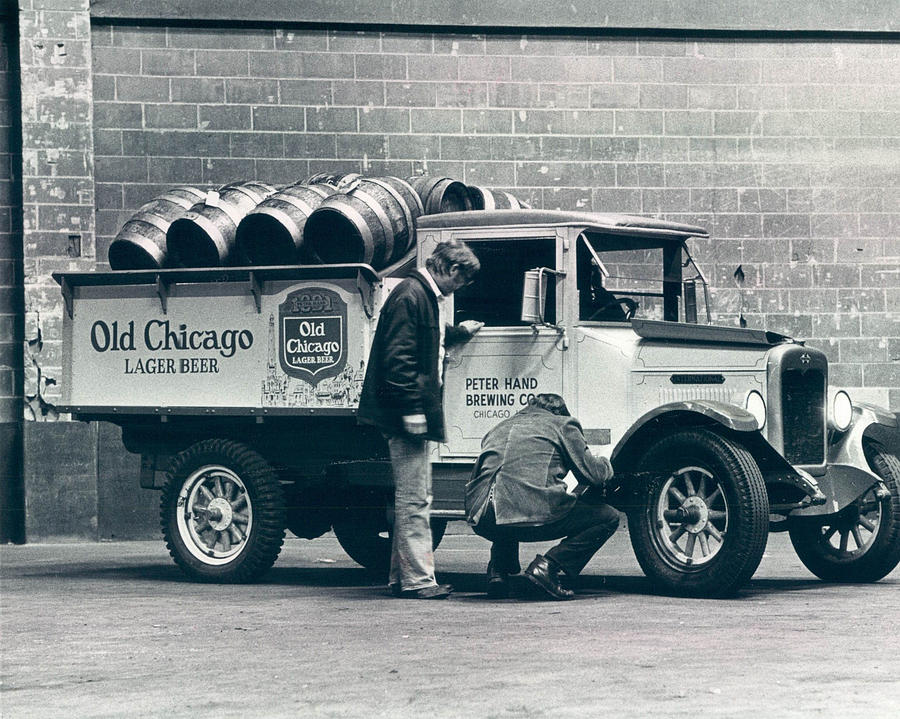 Old Chicago Beer Vintage Truck Delivery Photograph By