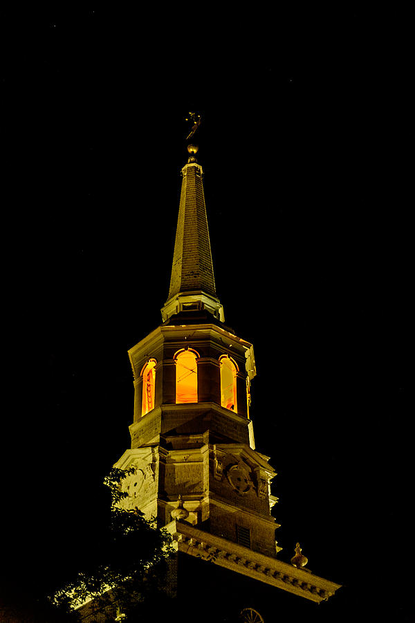 First Friday Photograph - Old Christ Church by Louis Dallara