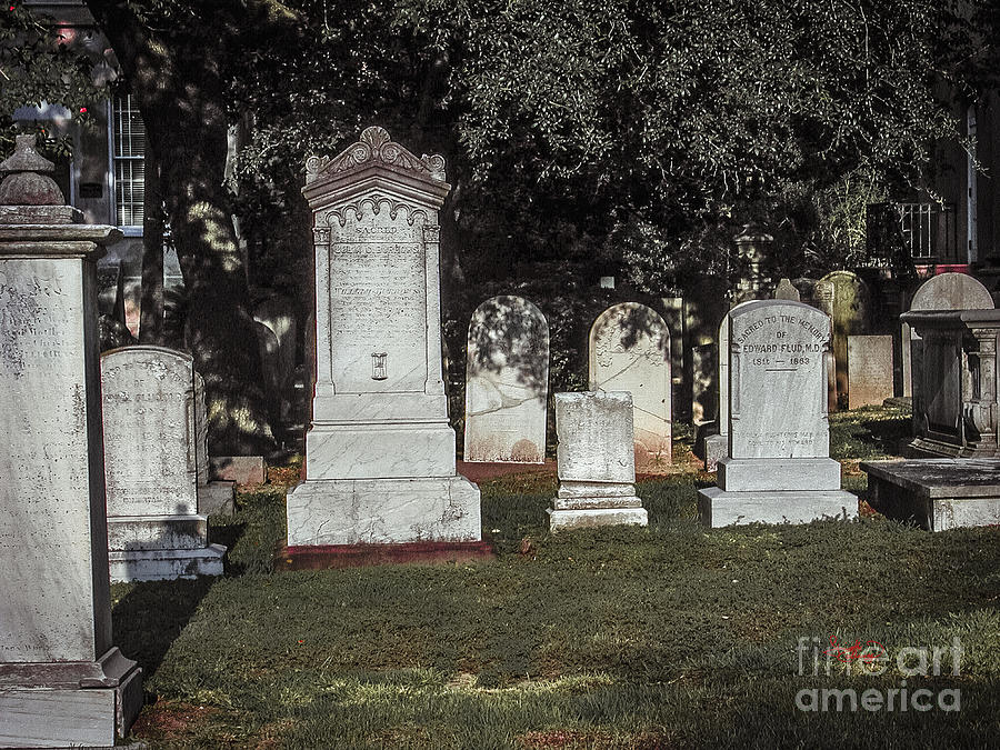 Old Church Cemetery in Charleston South Carolina Photograph by Ginette Callaway