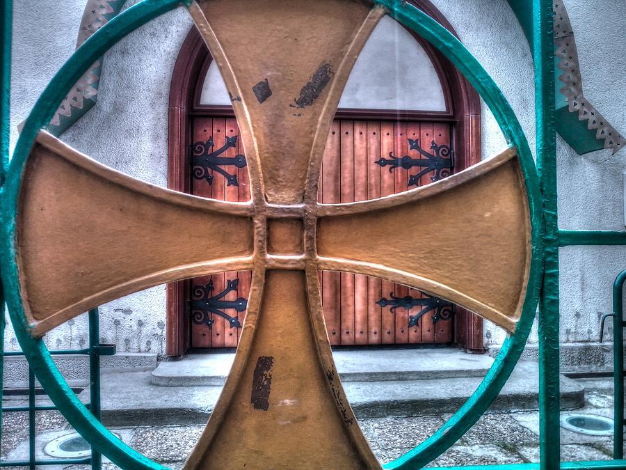 Old Church Door Photograph by Serdjophoto