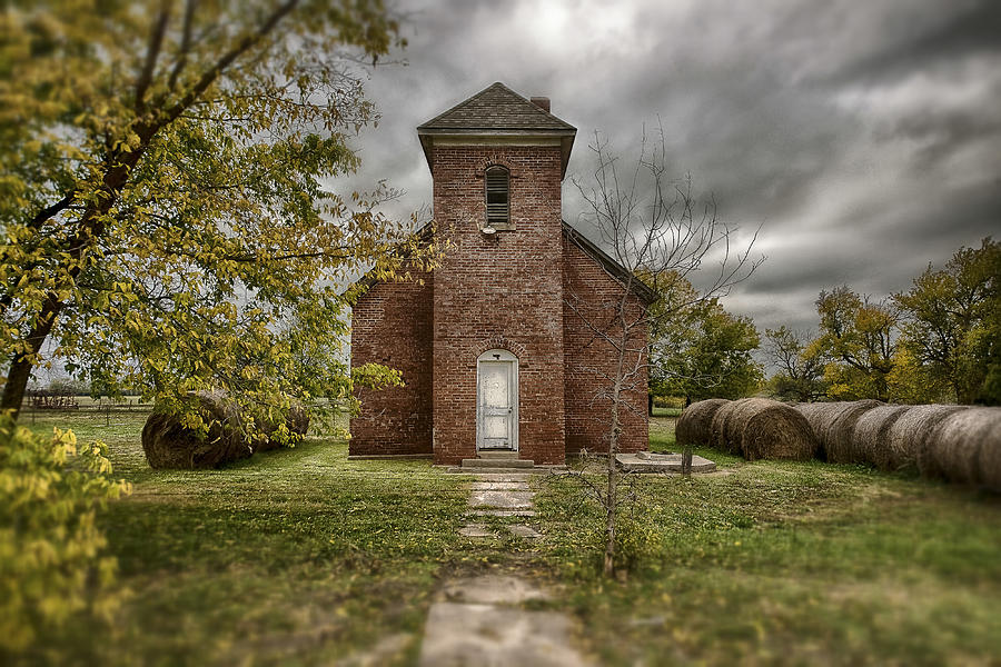 Rural Landscapes Photograph - Old Church In Fall by Garett Gabriel