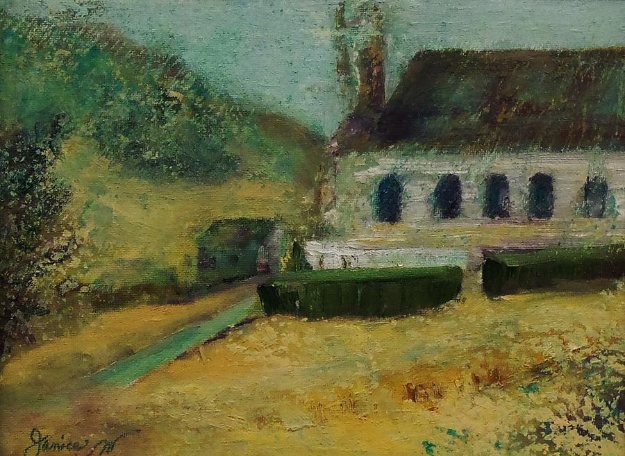 Church Painting - Old Church On The Hill by Jan Moore
