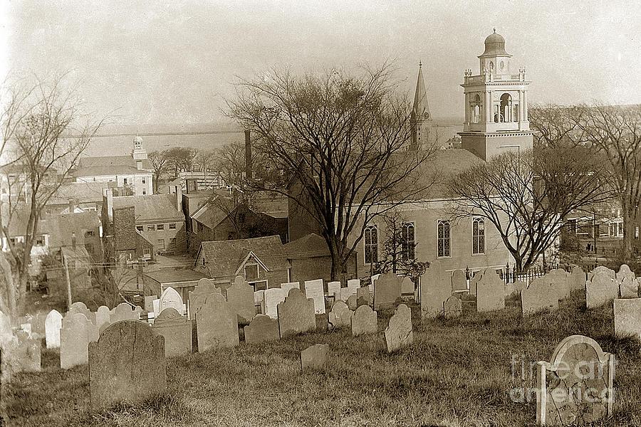 Old Church S Cemetery Graveyard Boston Massachusetts Circa
