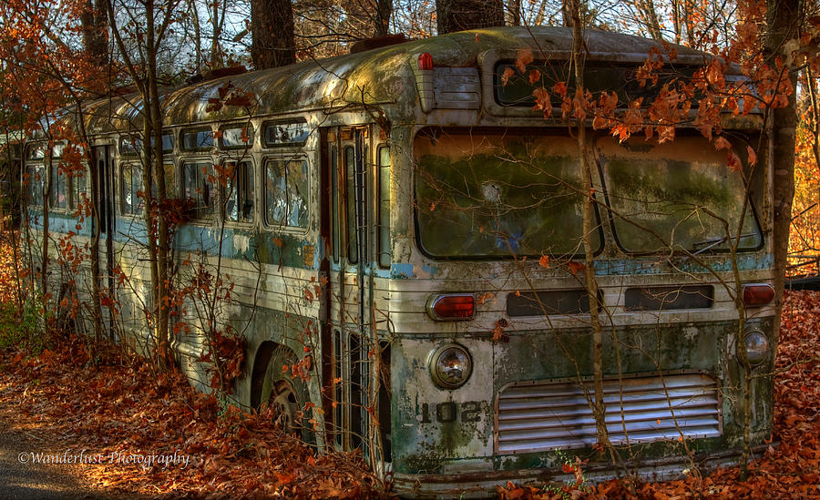 Old Photograph - Old City Bus by Paul Herrmann