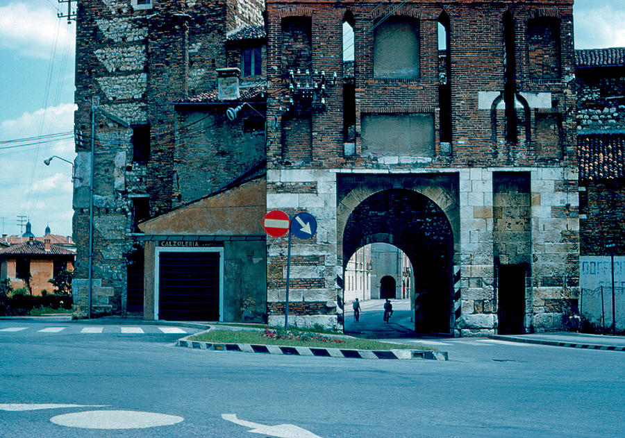 Vicenza Photograph - Old City Gate Vicenza 1962 by Cumberland Warden