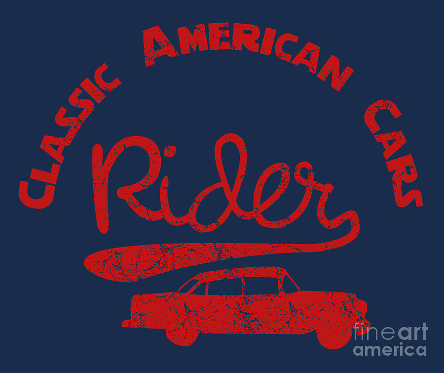 College Digital Art - Old Classic American Car Havana Cuba by A1vector