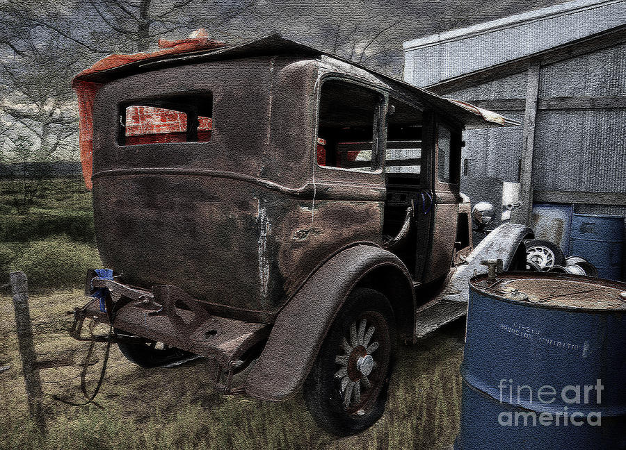 Old Classic Car Photograph - Old Classic Car by Liane Wright