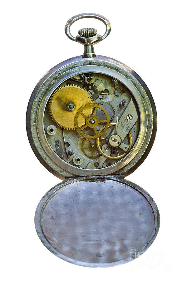 Gears Photograph - Old Clock by Michal Boubin