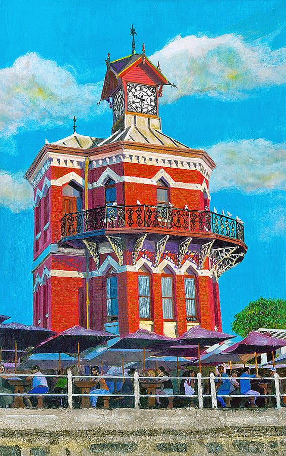 Clock Tower Painting - Old Clock Tower by Michael Durst