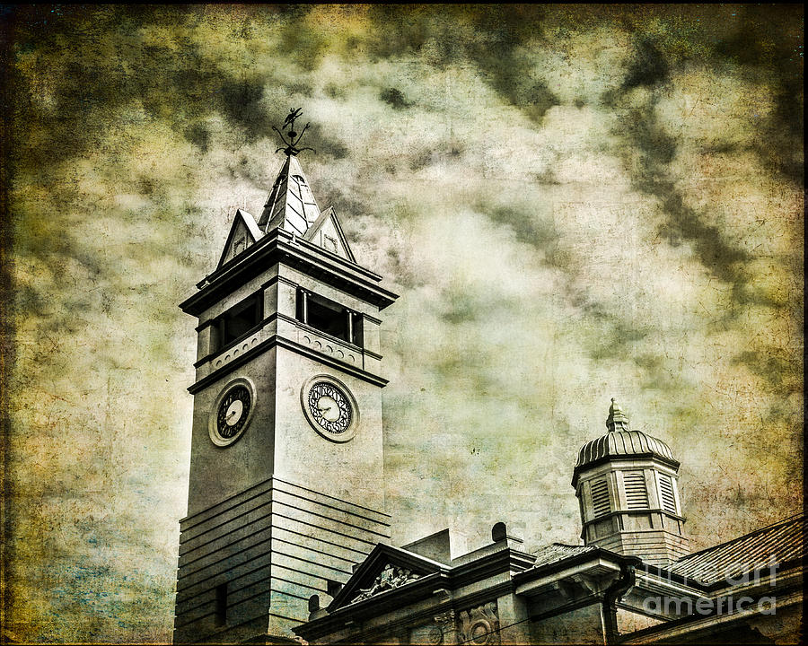 Clock Photograph - Old Clock Tower by Perry Webster