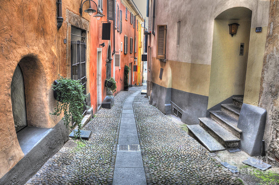 Old colorful stone alley Photograph by Mats Silvan