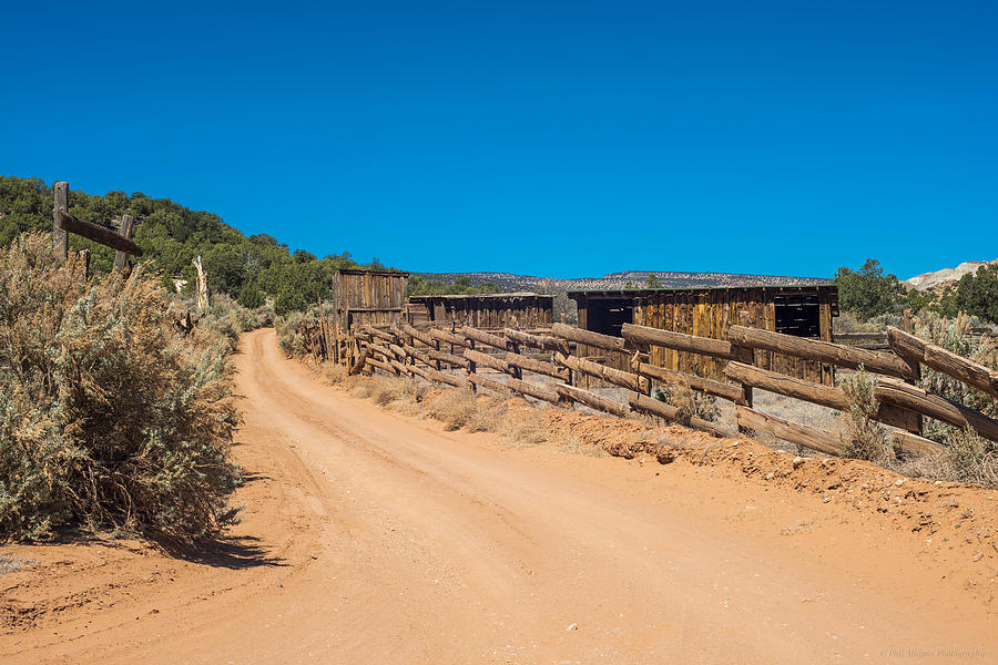 Corral Photograph - Old Corral by Phil Abrams