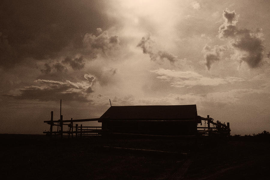 Old Corral Sky Photograph