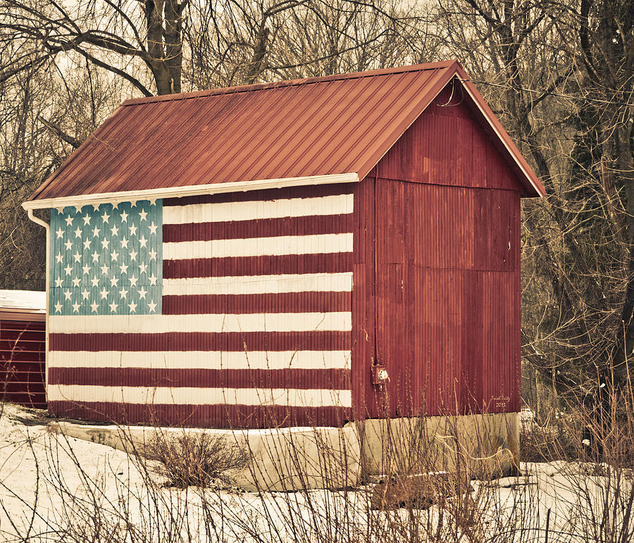 Barn Photograph - Old Country America by Trish Tritz