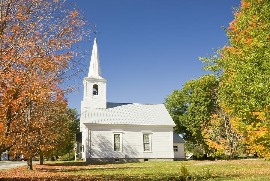 Wonderful Rural Churches For Sale #1: Old-country-church-in-fall-rumford-center-maine-keith-webber-jr.jpg