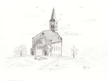 Old Country Church Digital Art By Janet Palaggi