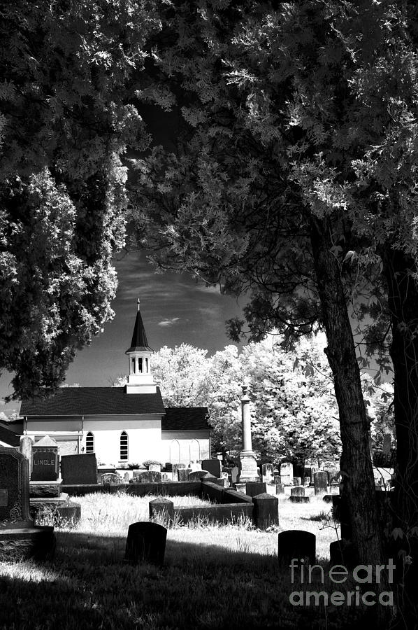 Infrared Photograph - Old Country Church by Paul W Faust -  Impressions of Light