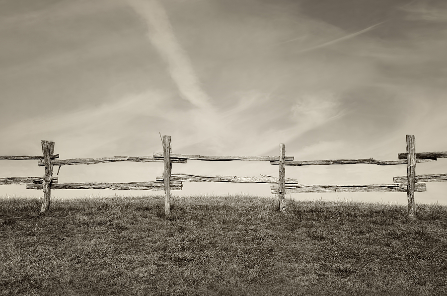 Old Country Fence Photograph by Steven Michael