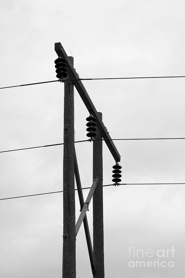 Electrical Photograph - Old Country Power Line by Jackie Farnsworth