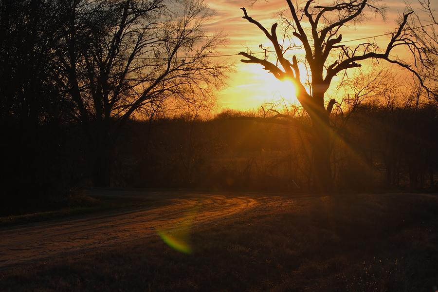 Sunset Photograph - Old Country Road. by Rachel Bazarow